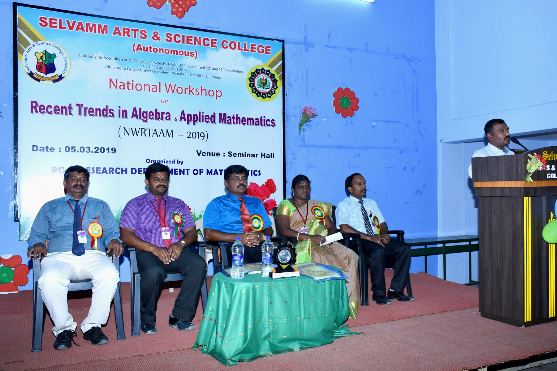 National Workshop On Recent Trends In Algebra and Applied Mathematics (NWRTAAM– 2019).