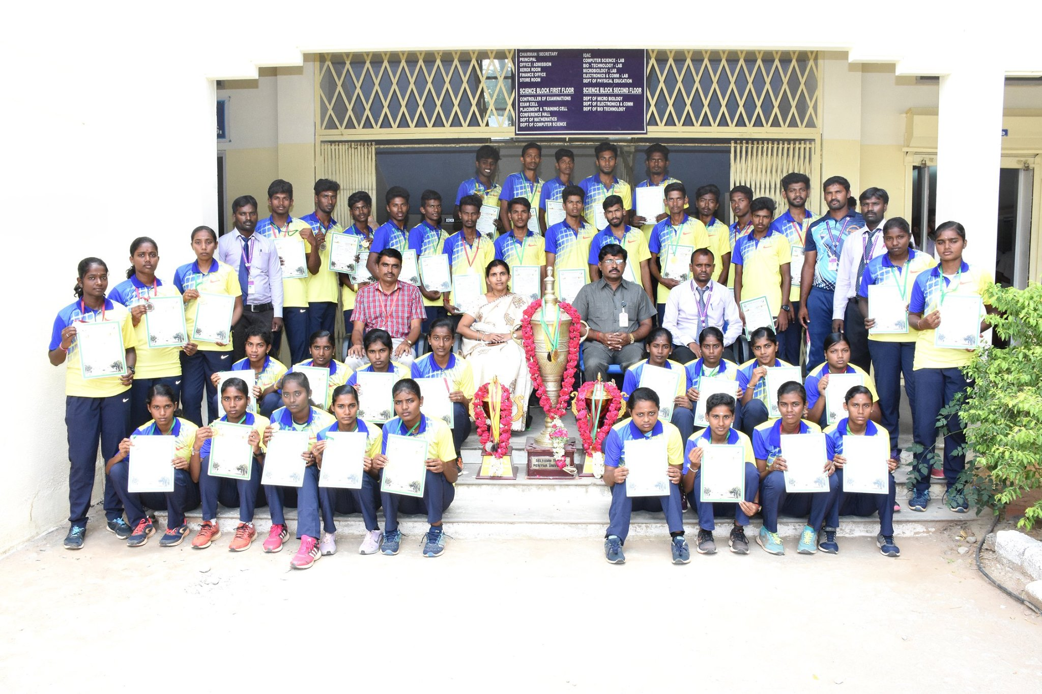 We bagged overall Championship for the 16th Consecutive Year in Periyar University Athletics.